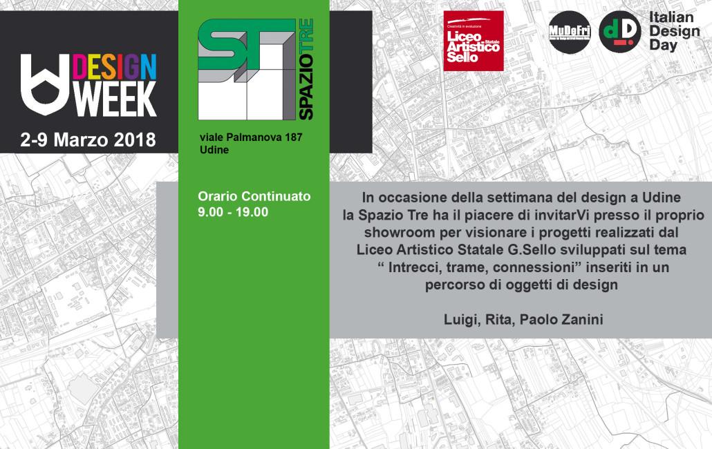 INVITO SPAZIO TRE PER UDINE DESIGN WEEK 18